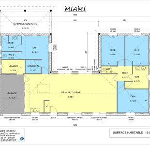Plan de la Maison Miami