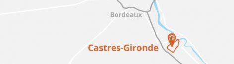 Situation géographique de Castres-Girondes