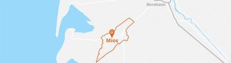 Situation géographique de Mios