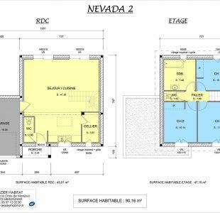 Plan Maison à étage Nevada 2
