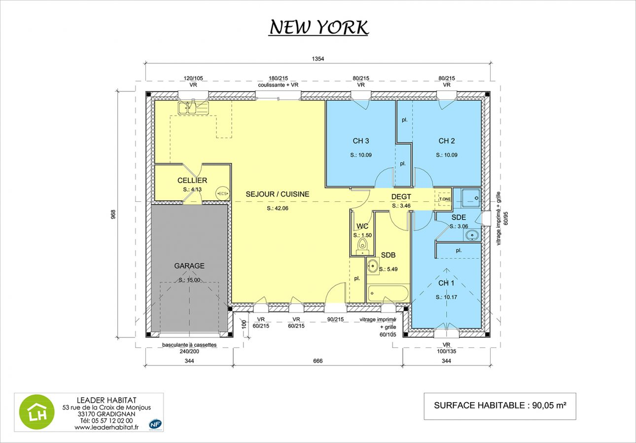 plan maison new york