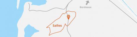 Situation géographique de Salles