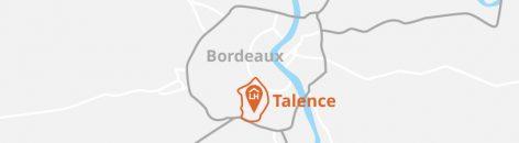Situation géographique de Talence