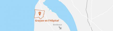 Situation géographique de la commune de Grayan-et-l'Hôpital