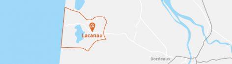 Situation géographique de la commune de Lacanau