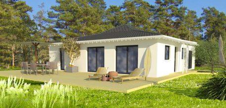 Vue extérieure du modèle de maison Malibu
