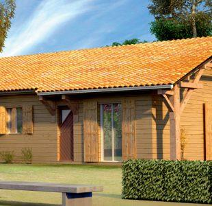 Vue extérieure du modèle de maison Merisier