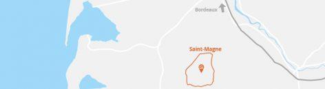 Situation géographique de la commune de Saint-Magne