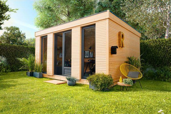Abri de jardin transformé en bureau d'été