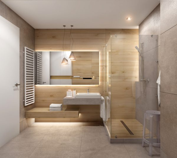 Un intérieur de salle de bain façon lagom